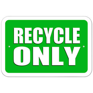 Recycling Signs Plastic Plastic Sign Re...