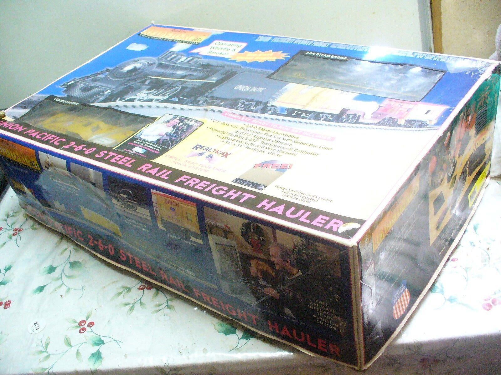 autentico en linea Railking 30-4048-0 Unión Pacific Motor De Vapor Vapor Vapor 2-6-0 Calibrador O-Conjunto de tren de juguete en ob  más vendido
