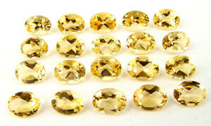 25-40-Ct-Natural-Citrine-6X8-mm-Loose-Gemstone-Oval-Cut-Lot-of-20-Pcs-32616