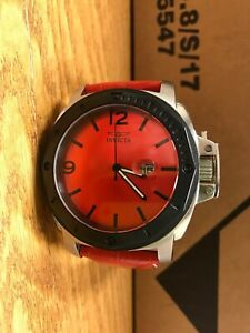 Invicta-red-specialty-men-039-s-50mm-watch-18839-leather-band