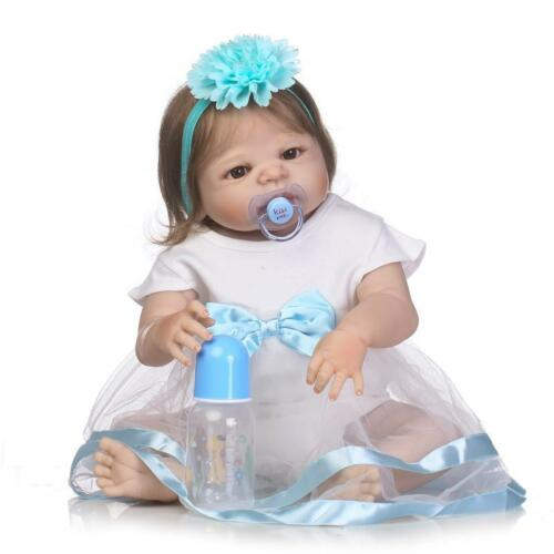 Pinky Weighted Girl 23 Inch 57cm Full Body Reborn Baby Doll Anatomically Correct