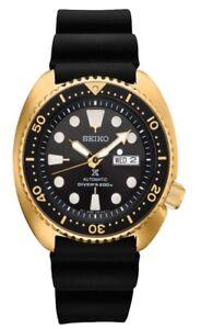 New-Seiko-SRPC44-Prospex-Automatic-Diver-Gold-Tone-Silicone-Strap-Mens-Watch