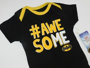 Infant-Boy-3-6-9-Month-Batman-Awesome-One-Piece-Creeper