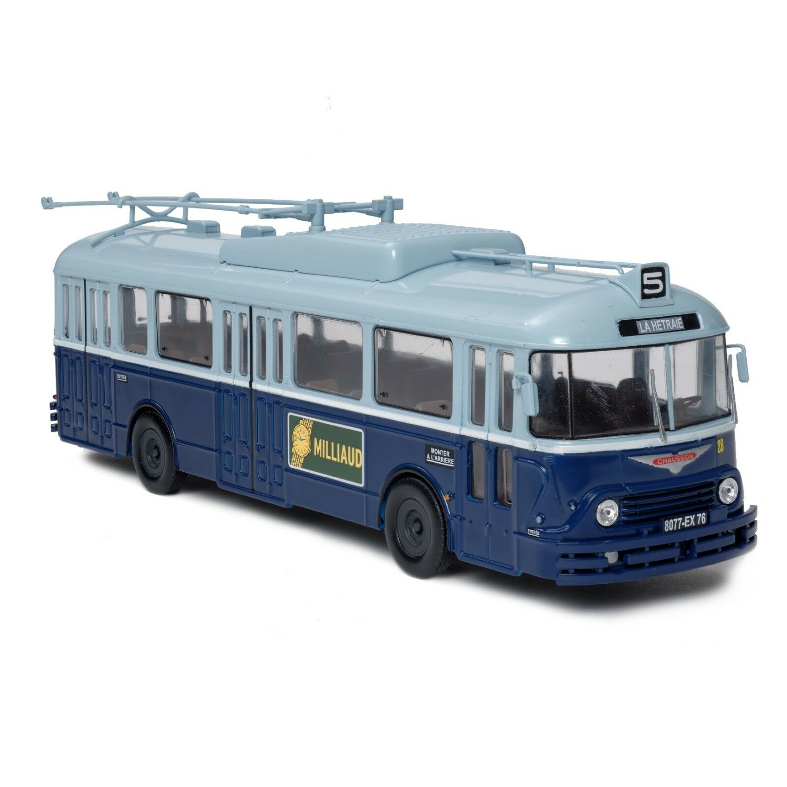 Trolleybus chausson-vétra apv 1 43 new in box miniature buses bus