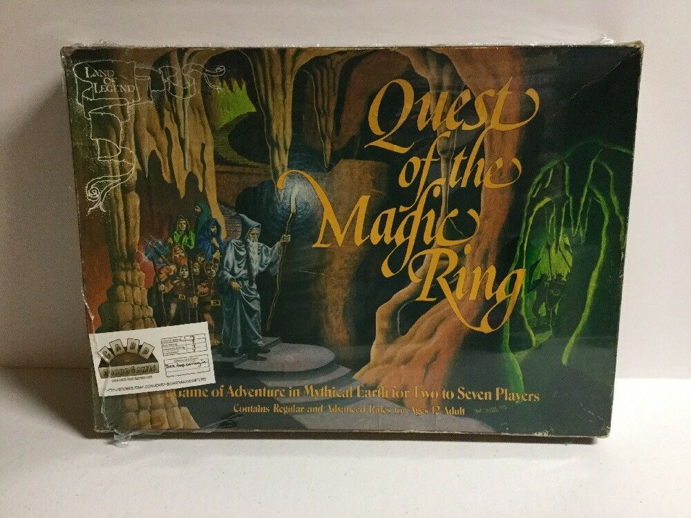 1975 Quest of the Magic Ring Board Game  Land of Legend Game Complete