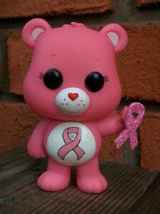 PINK POWER Custom Painted Genuine FUNKO POP Figure Care Bear Box Cancer Survivor