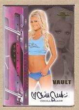 Cecille Gahr 2012 Bench Warmer Vault Gold Foil Autograph Auto