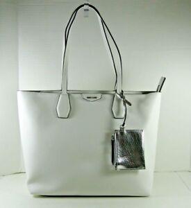 73cc43d65 Nine West NEW $89 Tote Shoulder Bag White Caden Medium Zip Top Faux ...