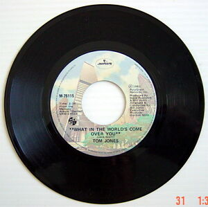 ONE-1981-039-S-45-R-P-M-RECORD-TOM-JONES-THE-THINGS-THAT-MATTER-MOST-TO-ME-WHAT