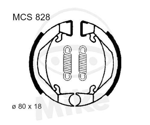 TRW Lucas Bremsbacken mit Federn MCS828 hinten Kreidler MF22 25 C Flory