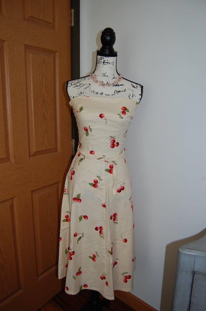 Anthropologie Corey Lynn Calter Cherry Delight Sexy Strapless Dresss 4 CLC