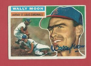 WALLY-MOON-St-Louis-Cardinals-Signed-Autographed-1956-Topps-Baseball-Card-55
