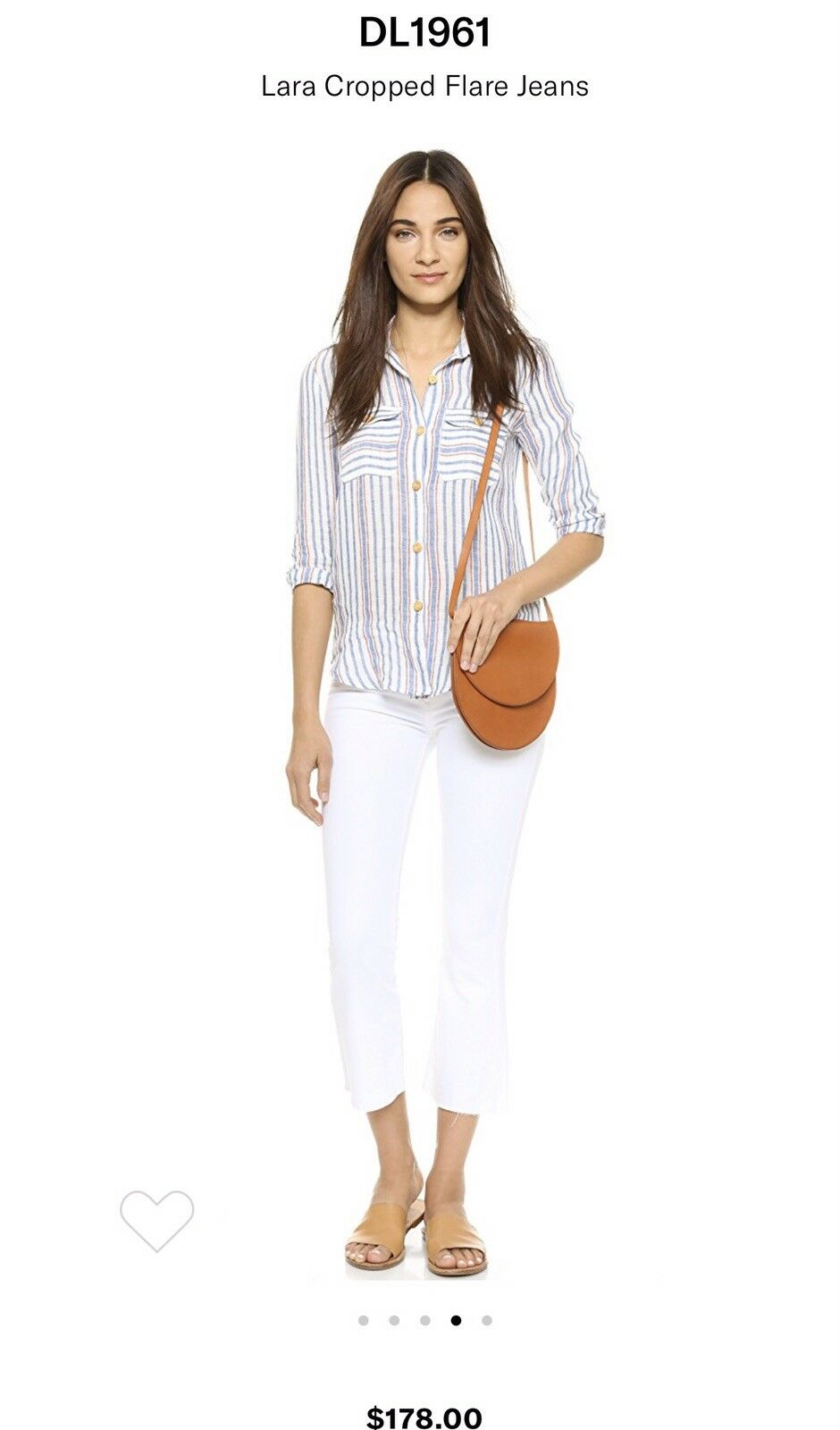 DL 1961 Lara Croped White Jeans 23  178 perfect NWT