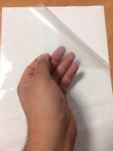 2AINTIMO Fogli Adesivi Film PVC Vinile A4 Carta Trasparente per Stampante Inkjet Trasparente, 5