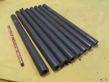 Gray Pvc Pipe 12 Schedule 80 Machinable Plastic Round Tube Stock 8 Pc Lot