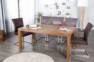 Tavoli Sala Da Pranzo In Legno : Tavolo da pranzo mumbai legno massello sheesham in sala scelta