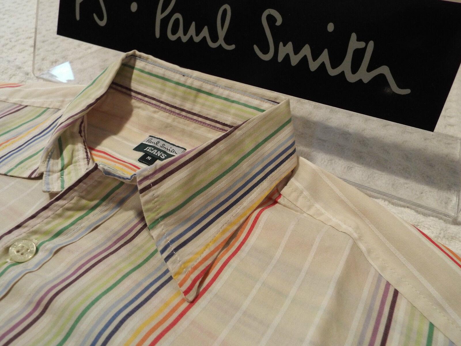 Paul Smith Da Uomo Camicia  Taglia M (circonferenza petto 44 )  RRP +  iconiche strisce Multi