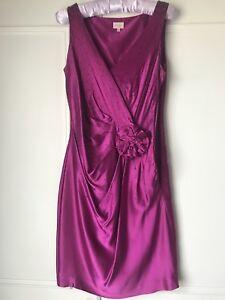 79f1014b180b Image is loading Whistles-Cerise-Pink-100-Silk-Dress-Size-8