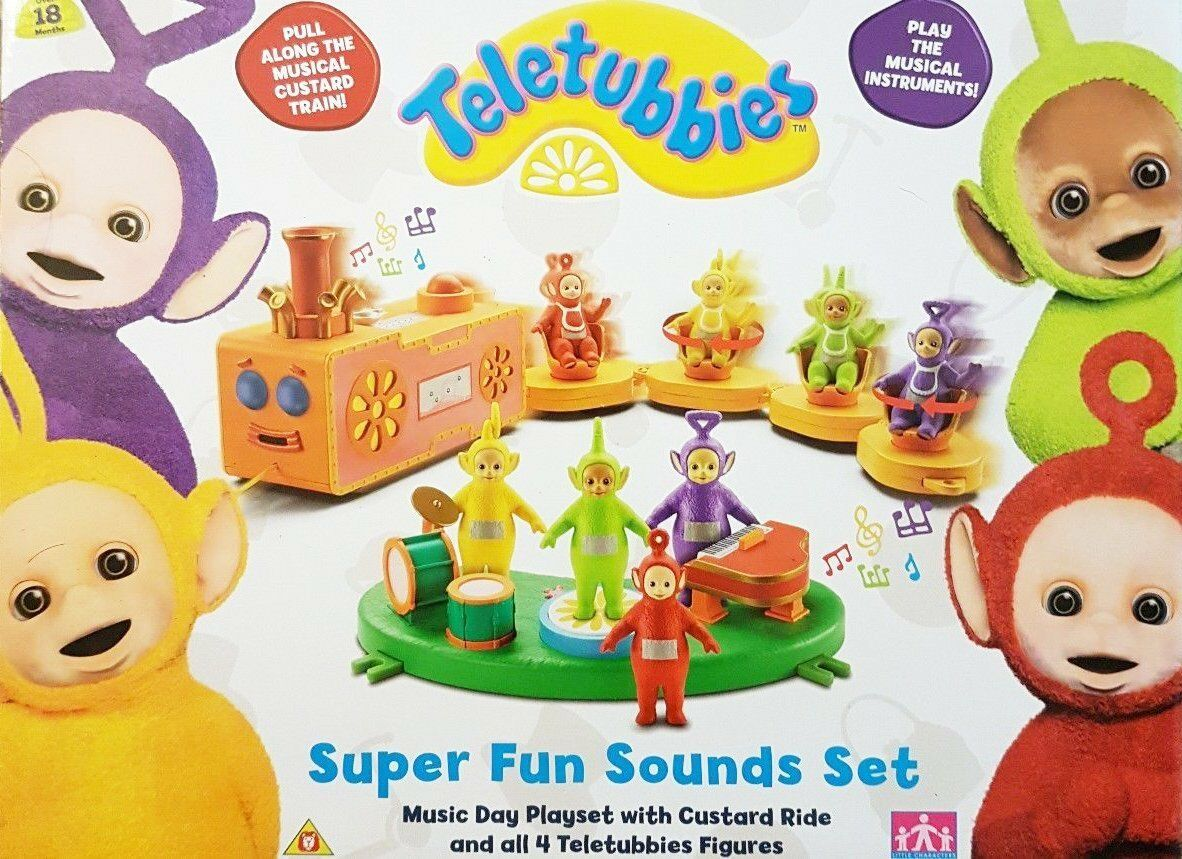 Brand New Teletubbies Super Fun Sounds Set - Music  Pull Along - RARE - Age 18m+