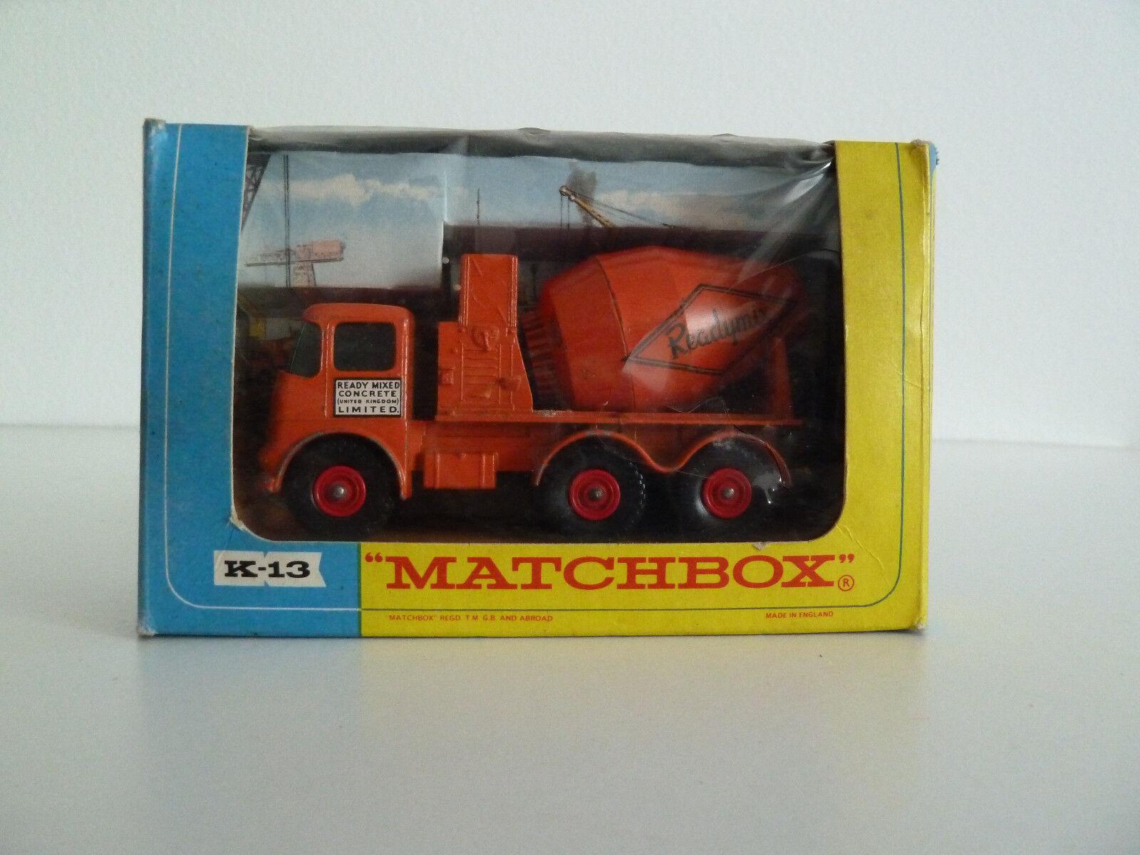 Matchbox k-3 ready-Mix cincrete Truck en su embalaje original y nunca se ha utilizado