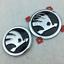 Chrome-Front-Hood-Bonnet-90mm-Rear-Trunk-80mm-Logo-Emblem-Badge-For-Skoda-Option thumbnail 1
