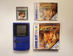 Gameboy Colore Viola CONSOLE CON GIOCO Indiana Jones