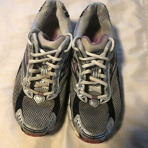 01f247628605d BROOKS Glycerin 15 Running Shoe Women s Size 7.5 B Silver Grey Rose ...