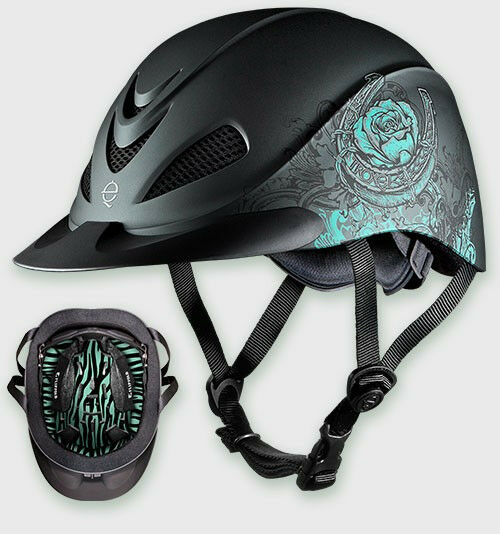 TROXEL HORSE RIDING HELMET TURQUOISE pink DURATEC ENGLISH WESTERN LOW PROFILE