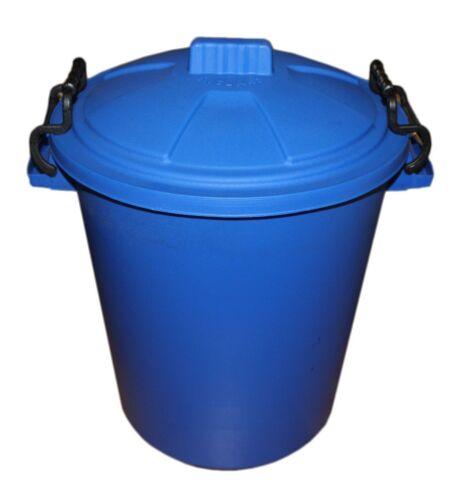 WASTE RECYCLE -RUBBISH 85 LITRE PLASTIC DUSTBIN -9 COLOURS INDOOR GARDEN
