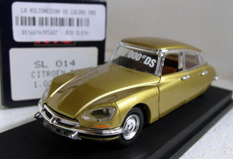 Rio 1 43 Scale SL014 Citroen DS 1.000.000 model gold Diecast model car