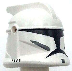 Lego New White Minifigure Headgear Helmet Star Wars Clone Trooper Piece