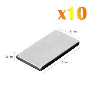 10-x-Neodymium-Rectangular-Magnets-Super-Fort-Rare-Terre-Block-NdFeb-N52-Grade