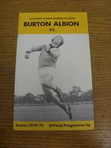 22-03-1975-Burton-Albion-v-Weymouth-Light-Rusty-Staples-Footy-Progs-aka-bob