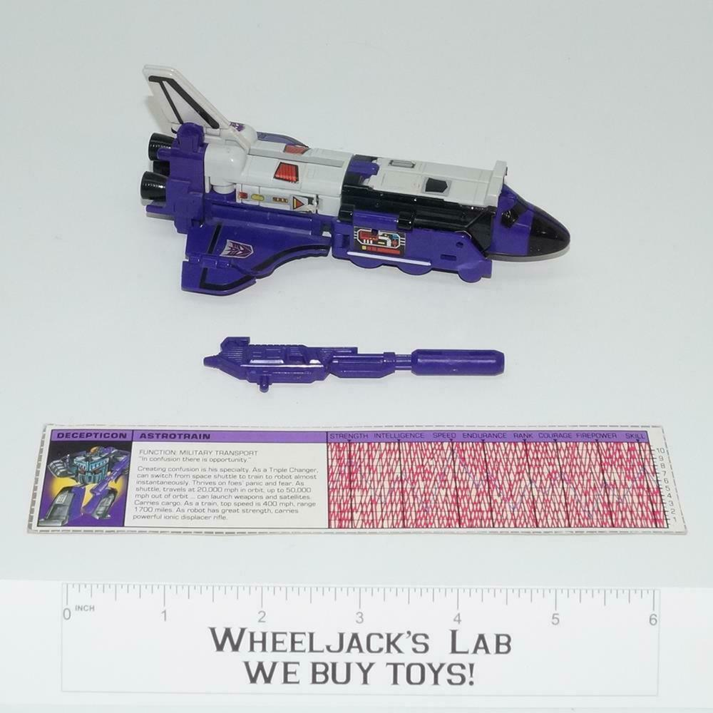 Astrotrain  100% Complete 1985 Hasbro G1 Transformers Action Figure WITH TECH