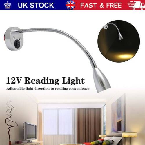2x 12V LED Spot Reading Light Switch Camper Van Caravan For Boat Motorhome Lamps