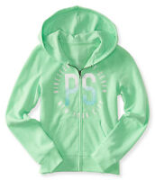 Ps Aeropostale Kids Girls Size 7 Or 8 Sparkle Zip-front Hoodie Sweatshirt