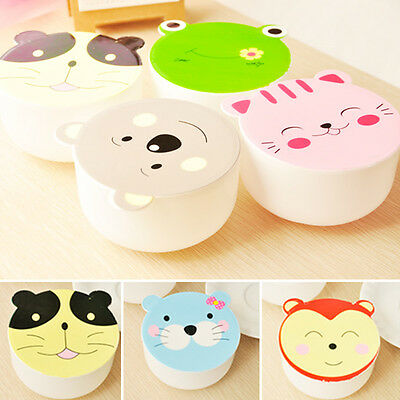 Children Round Lunch Box Cute Animal Bento Box Microwave Food Container Use RI