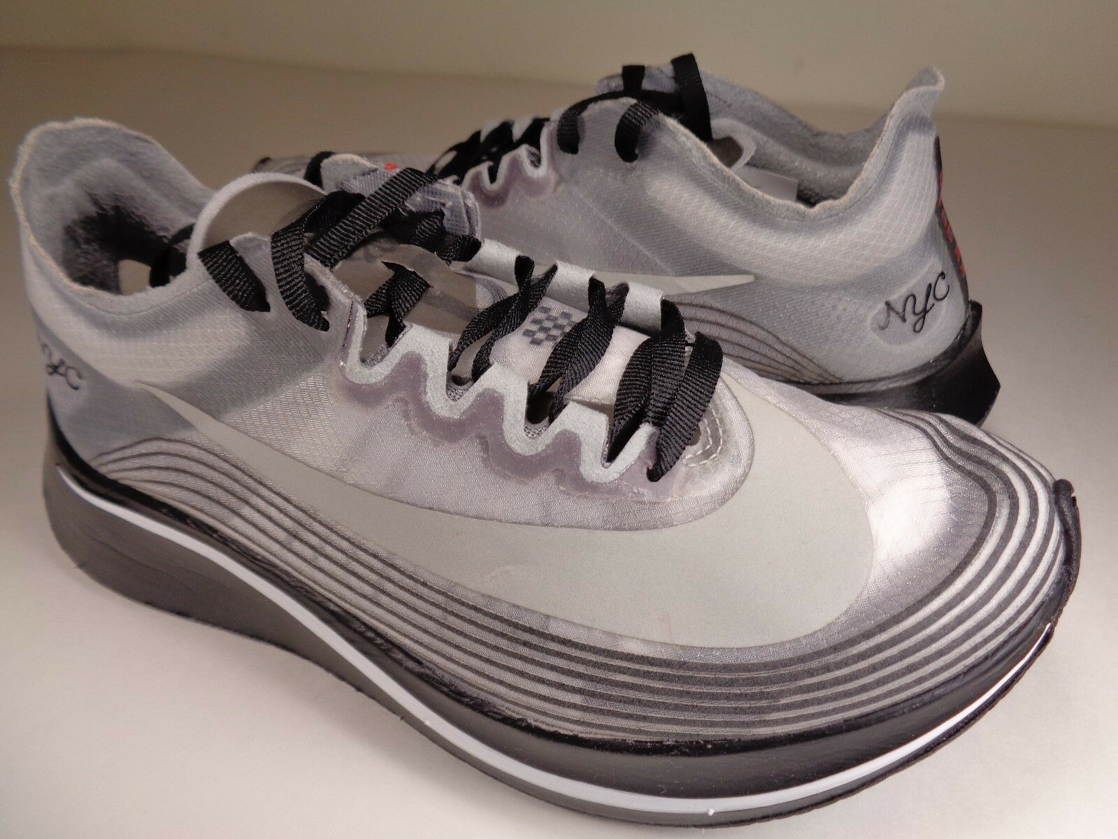 Womens Nikelab Zoom Fly NYC Black White New York City Marathon SZ 6 (AH5088-001)