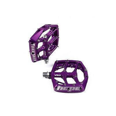 Hope F20 Flat MTB Pedals - Purple CNC Aluminium