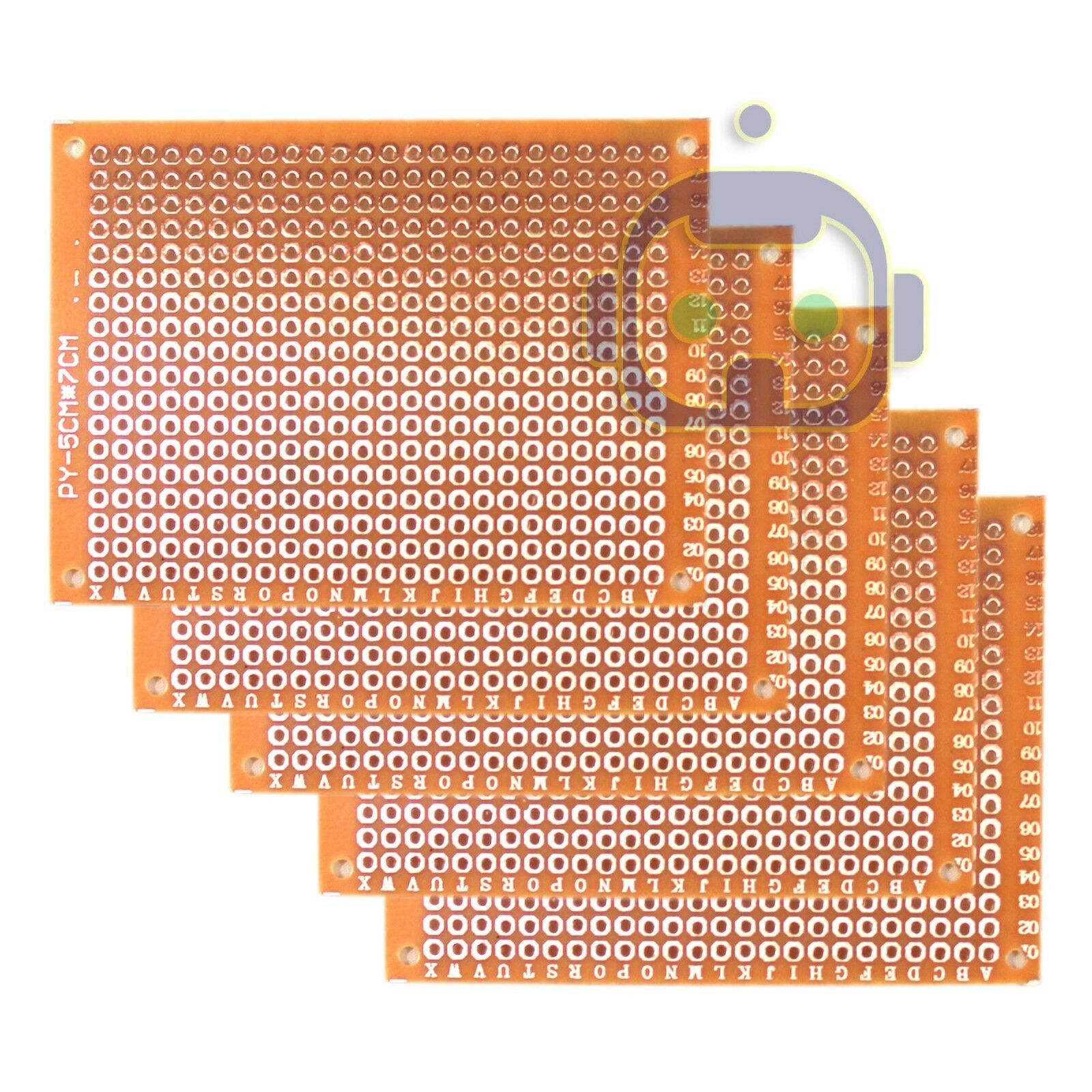 5X Double Side 2x8cm Prototype PCB Universal Printed Circuit Board Copper PNs4