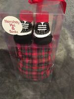 Plaid Newsboy Hat Cap Size 0-6 Months And Tennis Shoe Socks