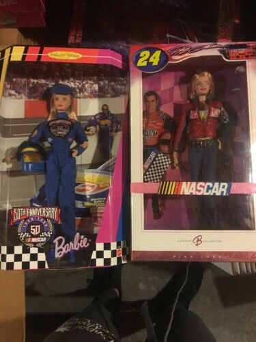 BARBIE Lot Of 2-NASCAR BARBIE #24 JEFF GORDON /& 50th Anniversary NRFB