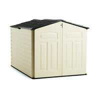 Rubbermaid 96 Cubic Feet Low-profile Slide Lid Outdoor Storage Shed | 1800005