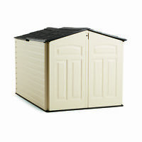 Rubbermaid 96 Cubic Feet Low-profile Slide Lid Outdoor Storage Shed | 1800005 on sale