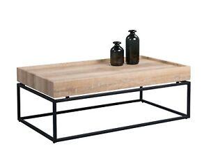 Wohnzimmertisch-Beistelltisch-Tisch-Konsole-MADISON-110x60-cm-Wildeiche-Metall