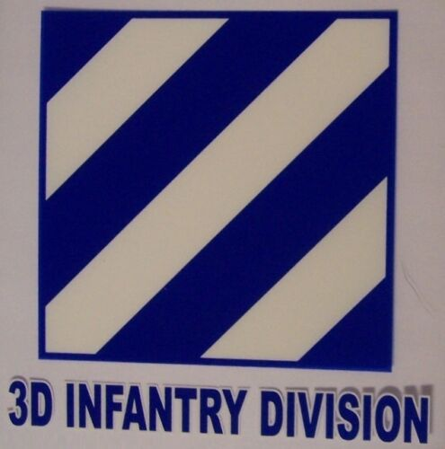 Window Bumper Sticker Military Army 3rd Infantry Division NEW Decal