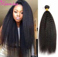 100% 8A Brazilian Virgin Human Hair Weave Extensions Yaki Kinky Straight Hair