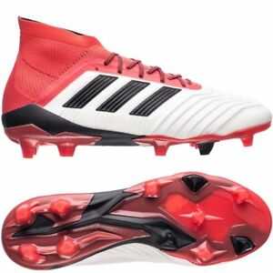 new concept dd8e4 685d8 Image is loading adidas-Predator-18-1-FG-AG-White-Black-