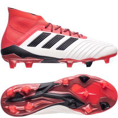 ADIDAS Predator 18.1 FGAG bianco nero rosso CM7410 Scarpe Da Calcio UK 8 12 | eBay
