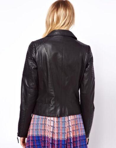 M Xxl Xl Biker Jacket Size Lambskin L Black Womens Leather Motorcycle Genuine S CSxzgZF